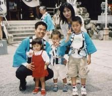 平成16年5月、地元本六町内会のお祭り、立木神社にて
